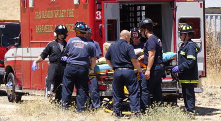 Worker airlifted after fall at Alamo Creek construction site in Danville