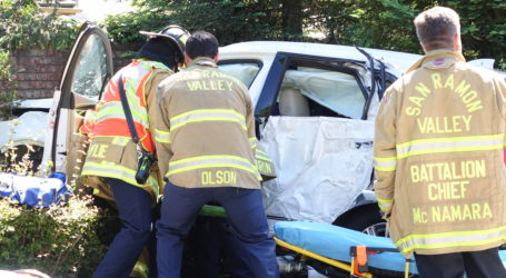 Driver airlifted after solo vehicle accident on Camino Tassajara in Danville