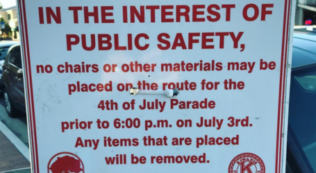 Danville: No chalk, chairs only after 6pm Monday ahead of 4th of July Parade