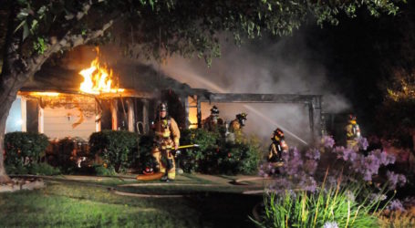 Firefighters battle Fourth of July morning garage fire in Danville