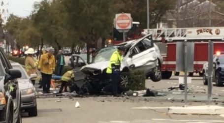 Alcosta Blvd closes after two vehicle collision injures four Sunday afternoon